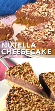 Nutella Cheesecake (THE BEST !) Nutella Cheesecake - Simple No-Bake Cheese . - Nutella Cheesecake (THE BEST !) Nutella Cheesecake – Simple no-bake cheesecake with Nutella and - Nutella Cookie, Chocolate Cookie Recipes, Easy Cookie Recipes, Easy Desserts, Baking Recipes, Dessert Recipes, Homemade Chocolate, Desserts Nutella, Nutella Mousse