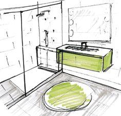 1000 images about douche on pinterest italian bathroom for Croquis salle de bain