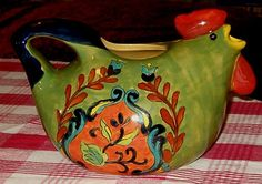 Vintage Tuscan Chicken Pitcher Colorful Decorator by softlychic, $28.99