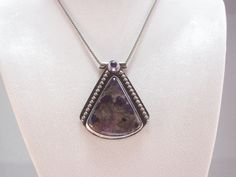 Arizona Amethyst and Sterling Silver Pendant by Tammy Helart of Splendent Stones at Pebble Art Jewelry