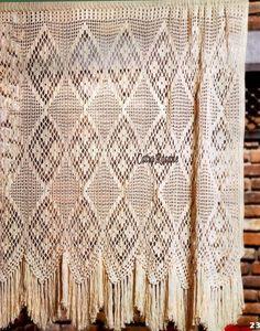 Picasa Web Albums Crochet Borders, Crochet Chart, Love Crochet, Filet Crochet, Beautiful Crochet, Knit Crochet, Crochet Curtain Pattern, Crochet Curtains, Curtain Patterns