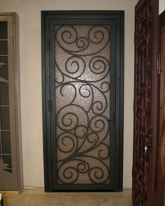 Gorgeous wrought iron door.