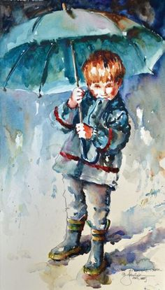 painting_loose_Jozwiak_Shelter_From_the_Storm   artistsnetwork.com #watercolorarts