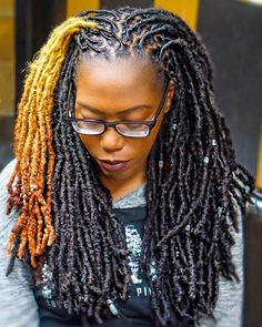 These are african locs styles for natural hair lovers. Locs are also known as dreadlocks, dreads, they are ropelike strands of hair formed by braids or braided hair. Dreadlock Styles, Dreads Styles, Braid Styles, Curly Hair Styles, Natural Hair Styles, Short Locs Hairstyles, Great Hairstyles, Short Haircuts, Stylish Haircuts