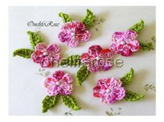 Small Crochet Flowers PinkMix Color от OnelifeRosen на Etsy, $3.50