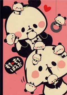 pink Mochi panda bear notepad exercise book