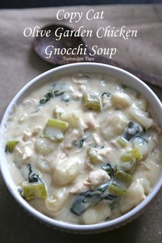 Copy Cat Olive Garden Chicken Gnocchi Soup Recipe
