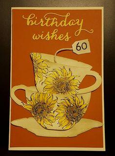 Tim Holtz Tea Time, Gina K sunflower stamp