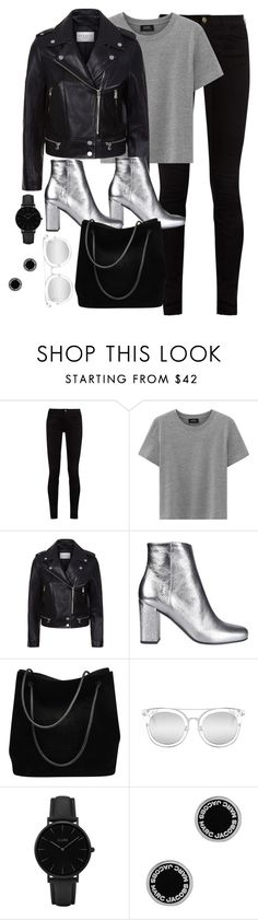 """""""Untitled #3111"""" by theaverageauburn ❤ liked on Polyvore featuring Gucci, Sandro, Yves Saint Laurent, Quay, CLUSE and Marc Jacobs"""