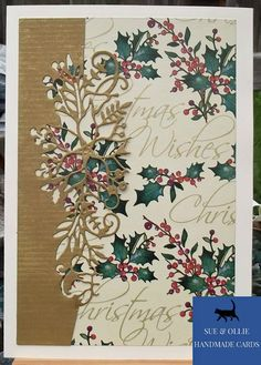 Gold Paper, Wax Paper, Christmas Poems, Christmas Cards, Etsy Uk, Card Maker, Cream And Gold, Poinsettia, Greeting Cards Handmade