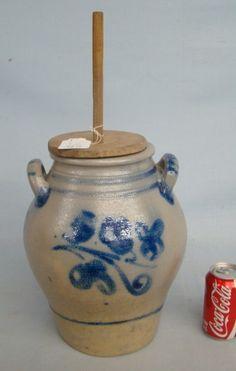 19th c. Stoneware Churn