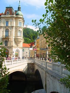 Ljubljana, Slovenia - the architecture here is amazing and it has a flair of paris with a lot of street musicians etc. love.