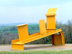 Steel Sculpture Part I: From Gabo to Caro Contemporary Sculpture, Contemporary Art, Abstract Sculpture, Sculpture Art, Anthony Caro, Playground Set, Plastic Art, Steel Sculpture, Outdoor Chairs