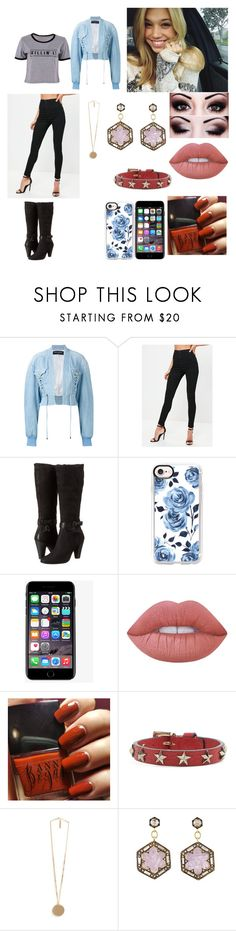 """""""Sasha Lecour"""" by kindabluee on Polyvore featuring moda, Balmain, Missguided, ECCO, Casetify, Dolce&Gabbana, Lime Crime, RED Valentino, Givenchy y Cathy Waterman"""
