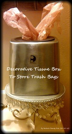 Barbie's Beauty Bits: Creative and pretty ways to store your trash bags. #DIY, #Re-purpose