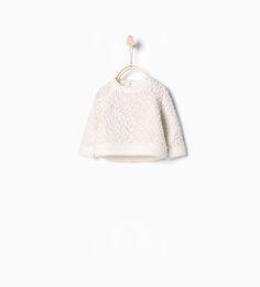 Afbeelding 1 van Tricot trui met reliëf van Zara