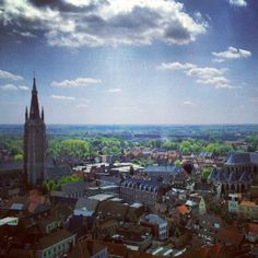A view from the 'Belfry' in Bruges.