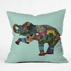 Sharon Turner asian elephant Throw Pillow   DENY Designs Home Accessories