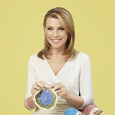 "Vanna White has hosted Wheel of Fortune for over 31 years, and is an avid knitter and crocheter. She has her own line of yarn called ""Vanna'. Knitting Club, Knitting Stitches, Vanna White, Knitting Quotes, Work Pictures, Lion Brand, Knit Or Crochet, Crochet Projects, Famous People"