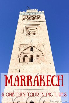One day tour of Marrakech, Morocco