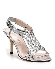 Possible silver bridesmaid shoes from Bloomingdales
