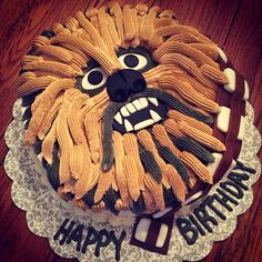Star Wars Chewbacca birthday cake, chocolate Guinness cake with baileys buttercream