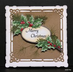 Square Christmas Pine by jray - Cards and Paper Crafts at Splitcoaststampers