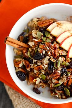 Jump to Recipe – Print Recipe Ready to go from Summer to Fall in 60 seconds? Start making this oatmeal ASAP and you'll be welcoming Fall into your home in no time at all. Apple season i…