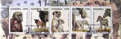 Stamp: Bloc Of 5 Stamps (Namibia) (Animals) Mi:NA BL43