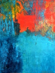 Bright New Day - Original Abstract Painting by Texas Contemporary Artist Filomena de Andrade Booth, painting by artist Filomena Booth
