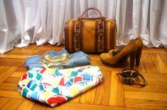 Vintage summer shorts multi colored rainbow by AnEyeforJulz, $20.00