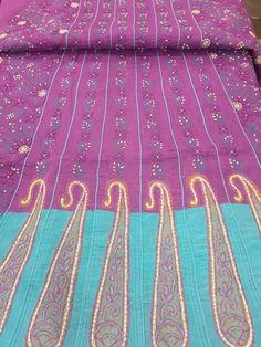 Exclusive & Designer Lucknow Chikan Dark Purple Cotton Anarkali Suit Length with very fine chikankari murri & shadow work with designer daaman , full embroidered sleeves & pure chiffon dupatta #chikananarkali $74.99