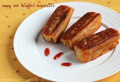 Ruchik Randhap (Delicious Cooking): Crispy Rice Stuffed Croquettes