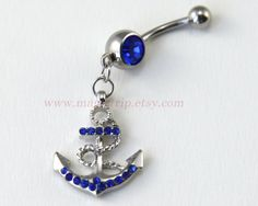 Anchor Belly Button Rings anchor belly button Jewelry by MagicTrip, $6.99