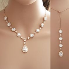 bridal necklace gold - Google Search