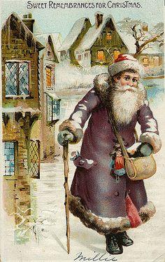 Vintage Christmas/Santa Claus Postcard