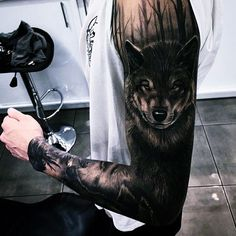 best wolf tattoo designs for men. Awesome wolf tattoos, Best wolf tattoos for men. A wolf tattoo is one of the most popular choices when it comes to animal-inspired tattoos. Bild Tattoos, Body Art Tattoos, New Tattoos, Tattoos For Guys, Cool Tattoos, Tattoo Art, Tatoos, Tattooed Guys, Dark Tattoo