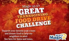 Magic 95.9 and 92Q are collecting food donations at Walmart locations across the Baltimore area in November! Can't make it to an event? Give virtually to help your favorite DJ come out on top with the most donations.