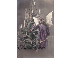 Items similar to Digital Art CHRISTMAS Fairy Angel Greetings Card, for Collage, Scrapbooking, Christmas Cards, Ethemera on Etsy 1920s, Christmas Cards, Digital Art, Greeting Cards, Fairy, Scrapbooking, Collage, Angel, Unique Jewelry