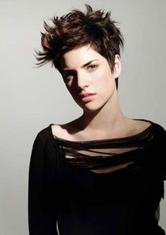Short messy pixie haircut hairstyle ideas 10