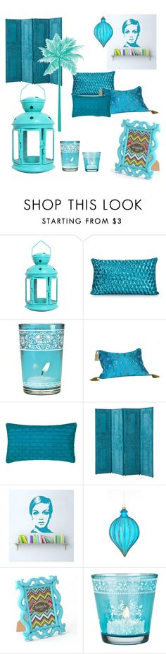 """""""Blue"""" by ibizagirl22 ❤ liked on Polyvore featuring interior, interiors, interior design, home, home decor, interior decorating, Cultural Intrigue, Nitin Goyal, Eichholtz and Sage & Co."""