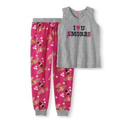 Buy Kat Nap Girls' 2-Piece Pajama Set at Walmart.com Pajama Set, Pajama Pants, Disney World Trip, Girls Pajamas, Two Piece Outfit, Printed Pants, Little Princess, Tween, Plus Size