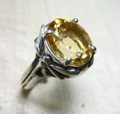 Dragonfly Citrine Ring