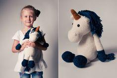 Gehäkelt mit Lieblingsfarbe, Einhorn Herbert als kuscheliger Gefährte / perfect christmas gift, customizable unicorn by pauSCHAL via DaWanda.com