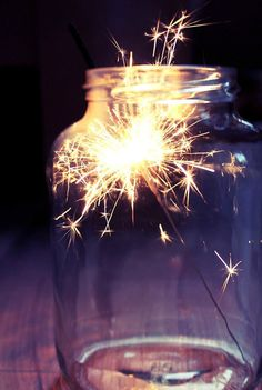 Sparklers in a jar!