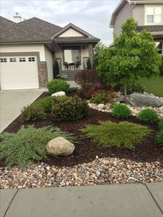 Curb Appeal - Same kinda layout as my yard-minus the…