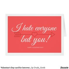 Valentine's Day card for Introverts