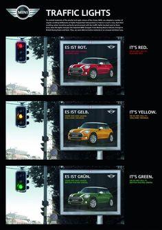 MINI crea un mupi que cambia de color según la posición del semáforo   Tiempo de Publicidad   Blog de Publicidad y Creatividad