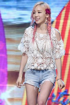 150715 SNSD - PARTY Win at 쇼 챔피언/SHOW CHAMPION : Taeyeon