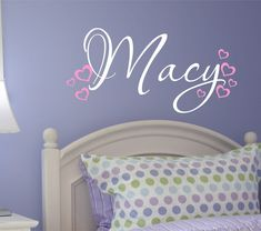 Childrens Name Wall Decals  Monogram Vinyl Wall Decals by LucyLews, $14.00